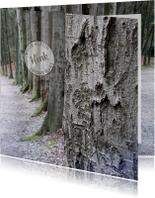 Rouwkaart Bomenrij