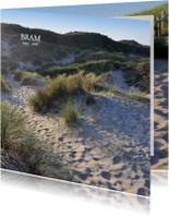 Rouwkaart Duin en strand