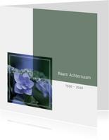 Rouwkaarten - rouwkaart foto hortensia
