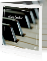 rouwkaart hobby piano