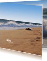 Rouwkaart Hoge golven
