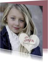 rouwkaart kind foto