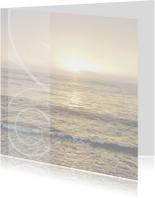 rouwkaart met de zee