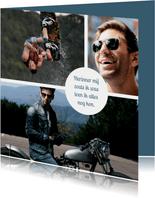 Rouwkaart met fotocollage