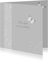 rouwkaart met vlindertje