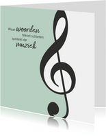 rouwkaart muziek