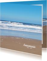 Rouwkaart Noordzee strand
