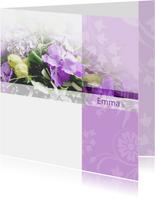 rouwkaart paarse orchidee