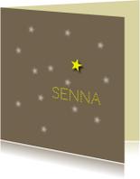 rouwkaart sterretje aan hemel