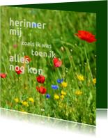 Rouwkaart Veldbloemen