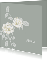 Rouwkaart witte rozen