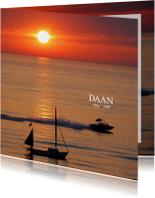 Rouwkaart Zonsondergang boten