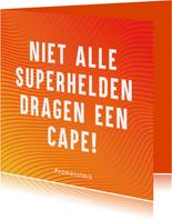 Samen Sterk Bedank kaartje voor Helden zonder cape