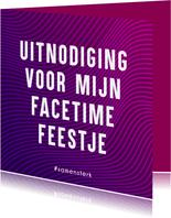 Samen Sterk uitnodiging voor een FaceTime Feestje
