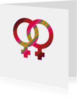 Trouwkaarten - samenwonen of trouwen twee vrouwen