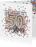 Sarah 50 jaar felicitatie kaart verjaardag