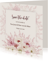 Save the date anemonen pastel