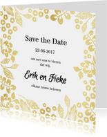 Trouwkaarten - Save the date botanicalgold - SV