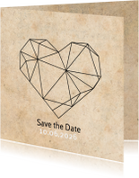 Save the date geometrisch hart