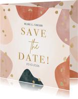 Save the Date Hochzeitskarte geometrisch & organisch