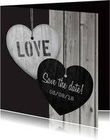 Save the date Hout Hart hangers