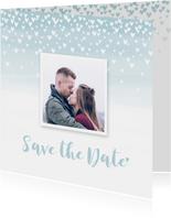Save the date kaart hartjes aquarel foto