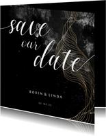 Save-the-Date-Karte Hochzeit elegant-industriell