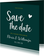 Save the date - stijlvol met namen