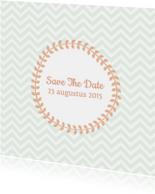 Save the date zig zag