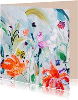 schilderij print bloemen