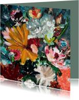 Schilderij Vreugde - bloemen