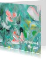 Schilderprint bloemen eigen txt