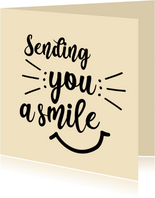 Sending you a smile - positive - zomaarkaart
