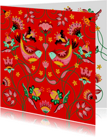 Sierlijke en kleurrijke verjaardagskaart met bloemen