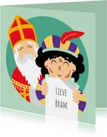 Sint en Piet hebben een gedicht geschreven