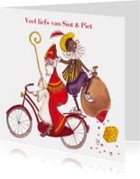 Sint en Piet op de fiets Cartita Design