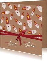 Sinterklaas cadeauverpakking met lint