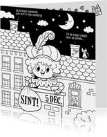 Sinterklaas inkleurkaart   - Tirzaworld