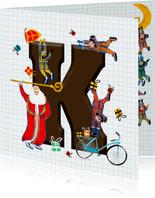 Sinterklaas kaart met chocolade-letter K