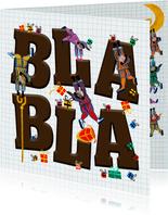 Sinterklaas kaart met letters Bla Bla
