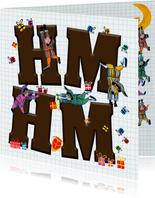 Sinterklaas kaart met letters Hm Hm