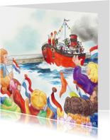 Sinterklaas nostalgische boot