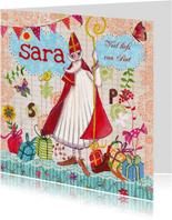 Sinterklaas Pakjes Avond Illustratie