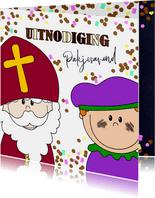 Sinterklaas pakjesavond snoep en chocoladeletters