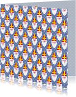 Sinterklaaskaarten - Sinterklaas patroon