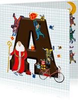 Sinterklaaskaart met letter A