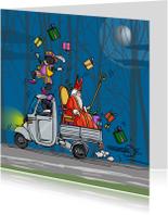 Sinterklaaskaart met piet