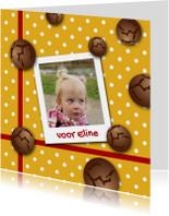 Sinterklaaskaart pepernoten g-HR