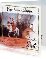 Sinterklaaskaart Schimmel op het dak