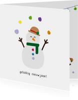 Sneeuwpop nieuwjaar - christmas cuties - nieuwjaarskaart